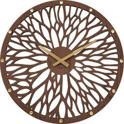Lavvu zegar ścienny LCT1180 z kryształkami, średnica 49 cm uniwersalny