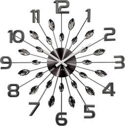 Lavvu zegar ścienny LCT1191 z kryształkami, średnica 49 cm uniwersalny