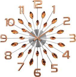Lavvu zegar ścienny LCT1192 z kryształkami, średnica 49 cm uniwersalny