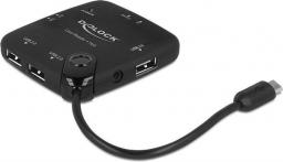 Czytnik Delock All-In-One USB 2.0, OTG + HUB USB (65529)