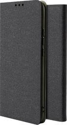 Hurtel Fabric Flip kabura etui pokrowiec z klapką Xiaomi Redmi Note 8 Pro czarny uniwersalny
