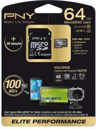 Karta MicroSD PNY Technologies mSDXC 64GB ELITE PERFO CLASS10 (SDU64G10ELIPER-EF)