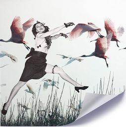 Feeby Plakat, Kobieta i gęsi 40x40