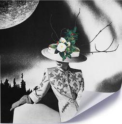 Feeby Plakat, Kobieta w kapeluszu z kwiatów 40x40