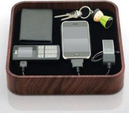 Stacja dokująca BlueLounge Sanctuary ciemne drewno (microUSB, miniUSB, USB, 30-PIN) (TS-01-DW)