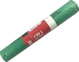 Scley Worki na śmieci 120L 10szt. zielone na szkło segregacja