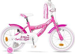 """Accent Rower dziecięcy Sandy 16"""" różowy wzór serca Uniwersalny"""