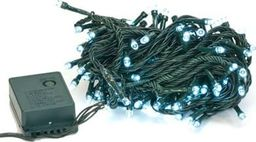 Lampki choinkowe Procter Lampki choinkowe białe 100 LED 10m + programator