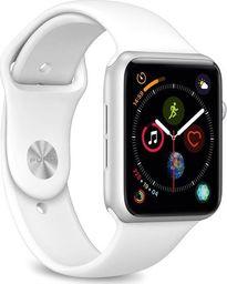 Puro PURO ICON Apple Watch Band Elastyczny pasek sportowy do Apple Watch 42 / 44 mm (S/M & M/L) (biały)