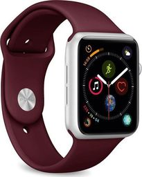 Puro PURO ICON Apple Watch Band Elastyczny pasek sportowy do Apple Watch 42 / 44 mm (S/M & M/L) (bordowy)