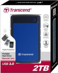 Dysk zewnętrzny Transcend StoreJet, 2TB  (TS2TSJ25H3B)