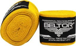 Beltor Beltor bandaż bokserski elastyczny żółty 4m