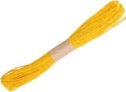 Czak Sznurek papierowy w zwoju - żółty - 30 m uniwersalny