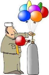 Patyk i koszyczek z usługą zgrzewania balonika na patyku. uniwersalny