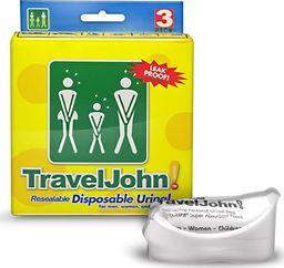 Reach Podręczna toaleta WC Travel John (3 szt.) Uniwersalny