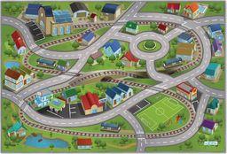 Achoka Mata Dywan 75x112cm Stacja kolejowa ulice tory drogi efekt 3D uniwersalny