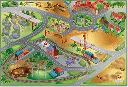 Achoka Mata Dywan 75x112 cm miasto w budowie ulice drogi wysoka jakość efekt 3D uniwersalny