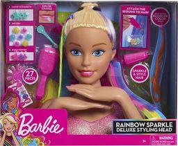 Just Play Barbie Duża Głowa do stylizacji czesania makijażu tęczowe włosy