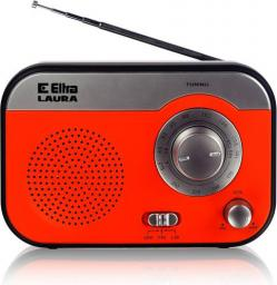 Radio Eltra LAURA Czerwono-srebny