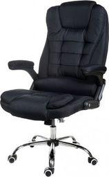 GIOSEDIO Fotel biurowy GIOSEDIO czarny z tkaniny, model FBJ FBJ004