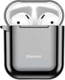 Baseus Baseus błyszczące silikonowe etui case na słuchawki AirPods 2gen / 1gen czarny (ARAPPOD-A01) uniwersalny