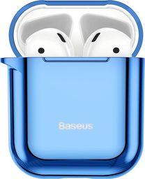Baseus Baseus błyszczące silikonowe etui case na słuchawki AirPods 2gen / 1gen niebieski (ARAPPOD-A03) uniwersalny