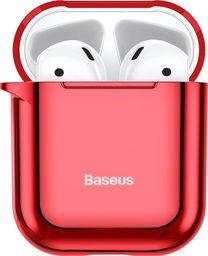 Baseus Baseus błyszczące silikonowe etui case na słuchawki AirPods 2gen / 1gen czerwony (ARAPPOD-A09) uniwersalny