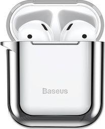 Baseus Baseus błyszczące silikonowe etui case na słuchawki AirPods 2gen / 1gen srebrny (ARAPPOD-A0S) uniwersalny