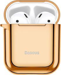 Baseus Baseus błyszczące silikonowe etui case na słuchawki AirPods 2gen / 1gen złoty (ARAPPOD-A0V) uniwersalny