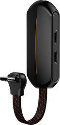 Baseus GAMO L49 adapter audio 3w1 USB Typ C do 2x USB Typ C (ładowanie, słuchawki) + mini jack 3.5mm czarny (CATL49-01) uniwersalny