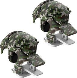 Baseus Baseus Level 3 Helmet PUBG pad gamepad joystick do telefonu do gier Camouflage szary (GMGA03-A0G) uniwersalny