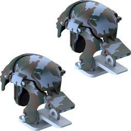 Baseus Baseus Level 3 Helmet PUBG pad gamepad joystick do telefonu do gier Camouflage niebieski (GMGA03-A03) uniwersalny