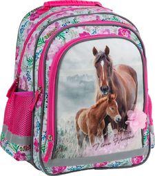Derform DERFORM Plecak Szkolny Dziecięcy 15B Konie 18 uniwersalny