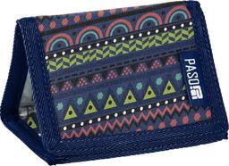 Paso Portfel 7 Przegródek 18-882PC Granatowy w Szlaczki uniwersalny