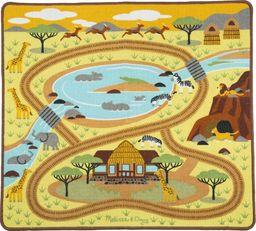 Melissa & Doug Melissa Dywanik Mata do Zabawy Safari Figurki uniwersalny