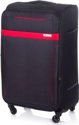 Solier Duża walizka miękka L Solier STL1316 czarno-czerwona uniwersalny