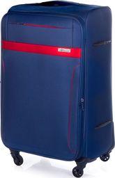 Solier Duża walizka miękka XL Solier STL1316 granatowo-czerwona uniwersalny