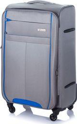 Solier Średnia walizka miękka M Solier STL1311 szaro-niebieska uniwersalny