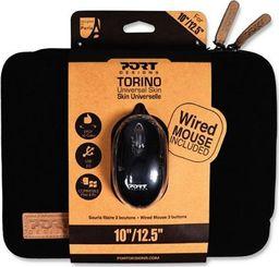 "Etui Port Designs PORT DESIGNS Torino Etui na laptopa 10-12"" + Mysz  czarne (501775) uniwersalny"