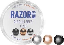 RazorGun Śrut BBs RazorGun TEST (Black, Silver, Gold) 4,46 mm 3x100 szt. uniwersalny