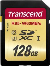 Karta pamięci Transcend SDXC 128GB class 10 UHS-1 U3 (TS128GSDU3)