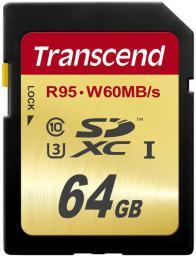 Karta pamięci Transcend SDXC 64GB class 10 (TS64GSDU3)