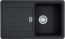 Franke Zlewozmywak 1-komorowy EFG 614 z ociekaczem 78 x 47,5cm onyx (114.0283.926)