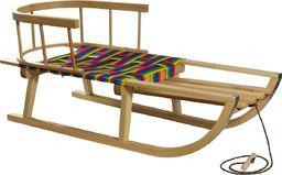 ENERO  Sanki drewniane z oparciem beżowe