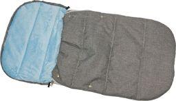 ENERO  Śpiworek Zimowy Dla Dzieci 90X45Cm Polar Błękitny / Melanż uniwersalny
