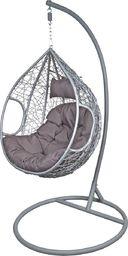 Saska Garden Fotel bujany Cocoon rozmiar L z technoratanu Szary / Antracyt uniwersalny