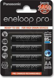 Panasonic Akumulatorki Eneloop PRO R6/AA 2450mAh – 4 szt. (BK-3HCCE-4BE)