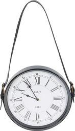 Segnale zegar ścienny metalowy na pasku retro loft 30 cm uniwersalny