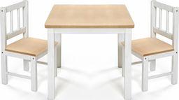 reer Stolik 2 krzesełka dzieci drewniane EatPlay REER uniwersalny