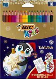 Bic Kredki ołówkowe KIDS Evolution Christmas18 kolorów